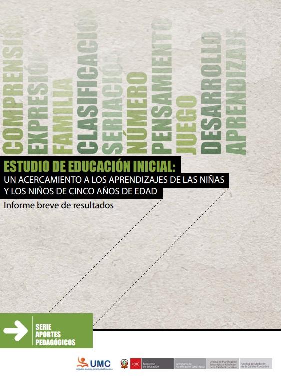 ESTUDIO DE EDUCACION INICIAL