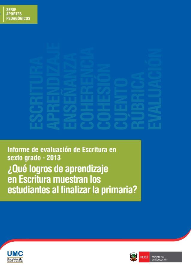 informe-de-evaluacion-de-escritura-en-sexto-grado-2013