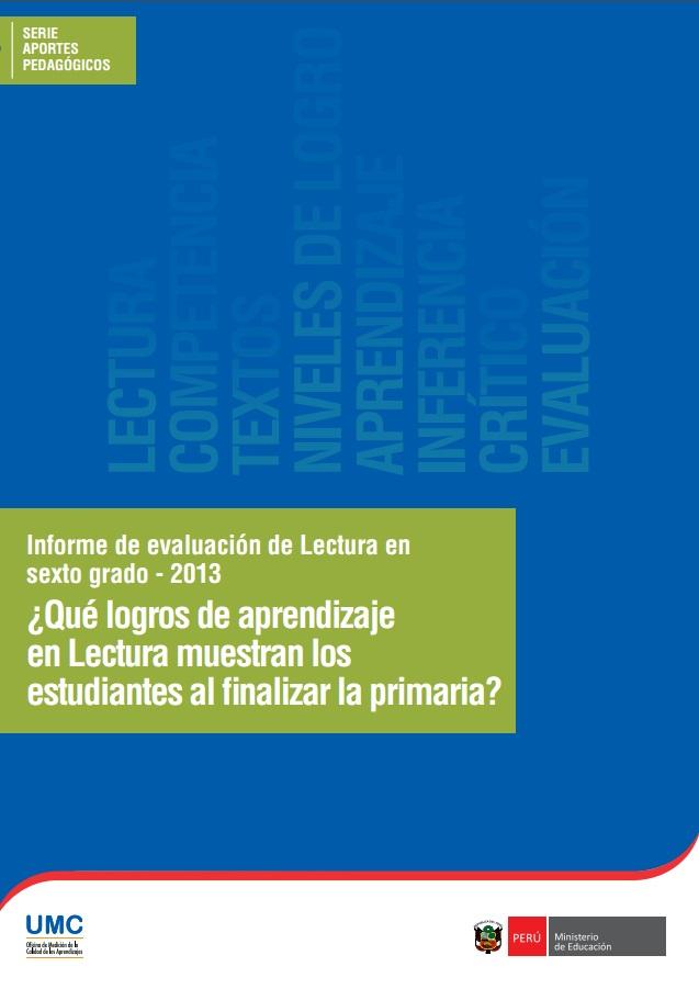 informe-de-evaluacion-de-lectura-en-sexto-grado-2013